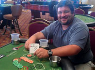 and again.. Scott L of Lebanon, NH. Trip 8's playing 3 Card! $140 WINNER!